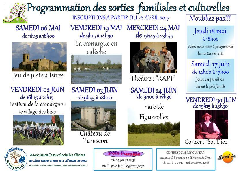 Affiche sorties familles
